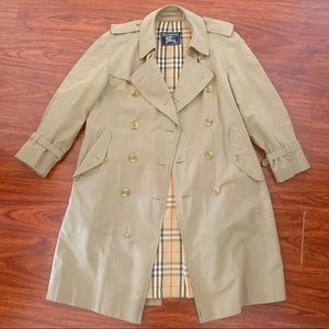 BURBERRY Trench Coat 48S Vintage Belted Khaki Tan